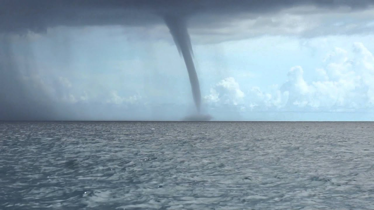Huge Water Spout Formation Off Key West