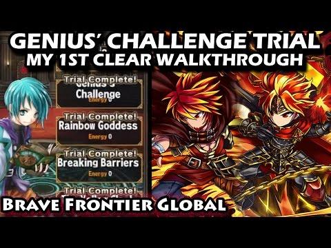 Genius' Challenge Trial Walkthrough (My 1st Clear)(Brave Frontier Global)