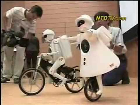 Robot Rides Unicycle