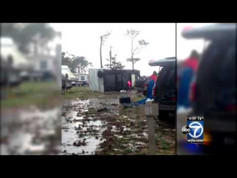 Tornado slams Va. campground; 2 dead