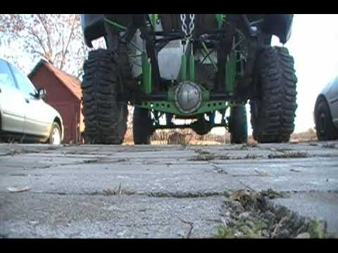 4x4 Chevy Race Truck Mudding in The Side Yard Video