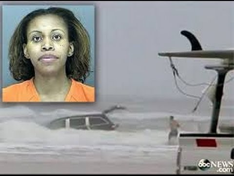 Ratchet Fl~pregnant Woman Drives Minivan Carrying 3 Children Into The Ocean video