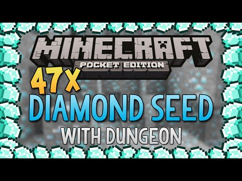 47+ DIAMOND SEED for Minecraft Pocket Edition Best Diamond Seed Ever