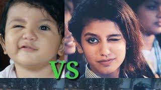 Priya parkash varrier vs baby funny winking