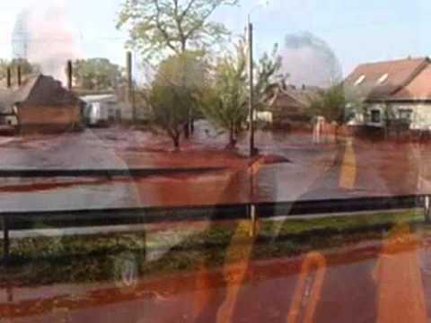 Folyik a vörösiszap Devecserben , Kolontáron 2010 . 10 . 04.meg rázó képek! /zferi50/