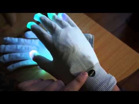 Review guantes con luces LED - www.geekmania.cl