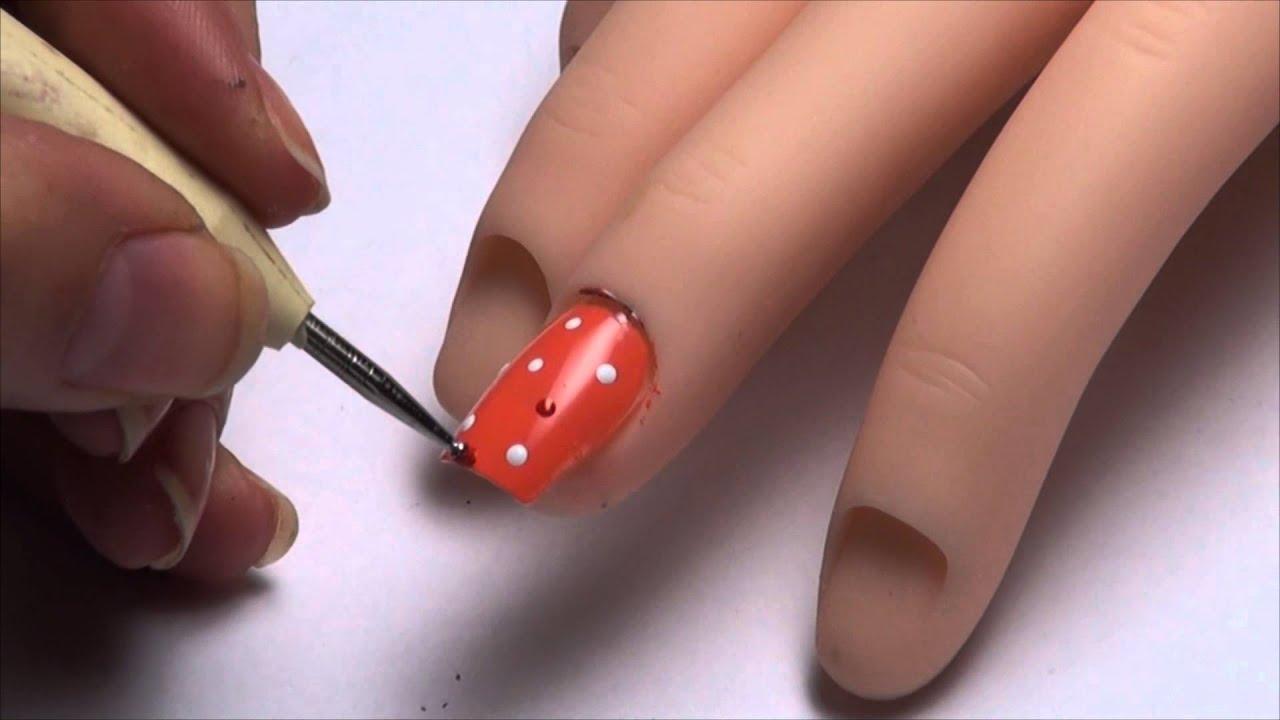 Nail art designs dots dise 241 o de u 241 as puntitos youtube