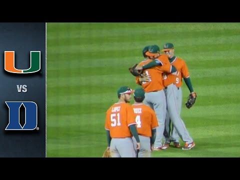 Miami vs. Duke Baseball Highlights (April 15, 2016)