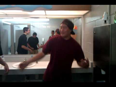 Asian Rapping In The Bathroom video
