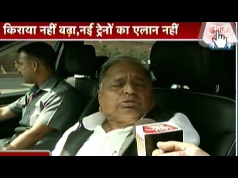 Incomplete Rail Projects Must be Completed: Mulayam Singh Yadav