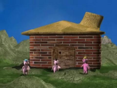 El cuento de los 3 cerditos 3D