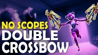 DOUBLE CROSSBOW | DAEQUAN NO SCOPES GALORE - (Fortnite Battle Royale)