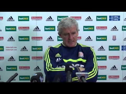 Stoke City v West Ham: Mark Hughes Press Conference