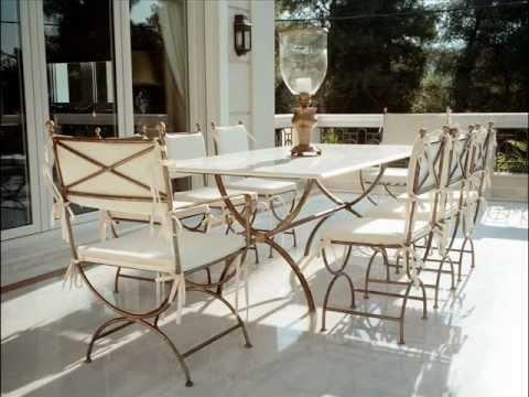 Τραπέζια κήπου Μεταλλικά Έπιπλα Εξωτερικού χώρου Music Videos