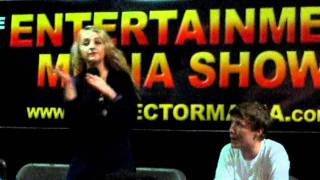 Evanna Lynch and William Melling doing the Wrackspurt Dance at EMS