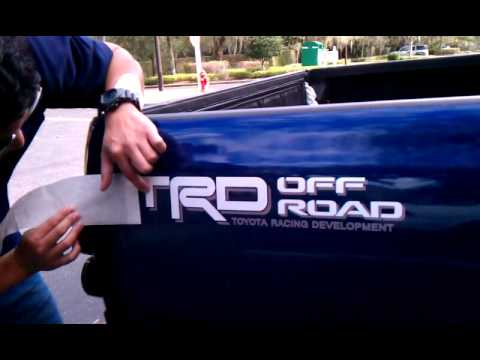 Trd Decal Install On 1994 Toyota Pickup 4x4 Youtube