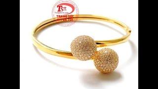 Vòng tay dior vàng, vòng tay vàng tây nữ đẹp, vòng tay nữ gắn đá,  TSVN015314