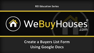video If you have GMail, you also have a Google DRIVE and the ability to produce Google Docs - letters, spreadsheets, forms, etc. We often hear people real estate investors ask:
