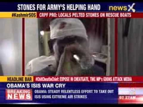 J&K: CRPF- Locals pelted stones on rescue boats