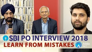 Learn From Mistakes SBI PO 2018 Mock Interview Session