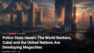 So it Begins, Are Your Ready to Live in A Totalitarian Megacity? This Will Impact us All