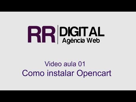 Video aula 1 - Instalar Opencart