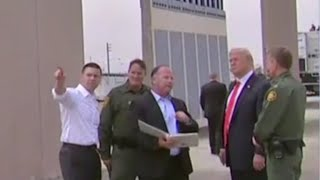 President Trump inspects border wall prototypes