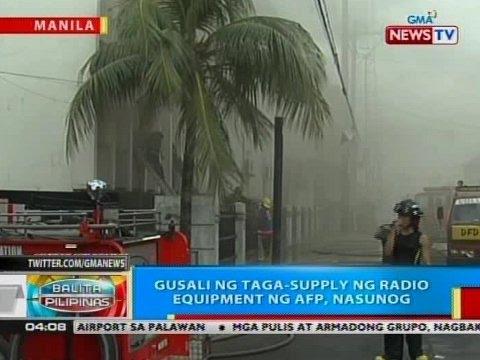 BP: Gusali ng taga-supply ng radio equipment ng AFP sa Tondo, Maynila, nasunog