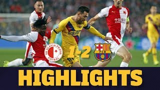 HIGHLIGHTS | Slavia Prague 1-2 FC Barcelona
