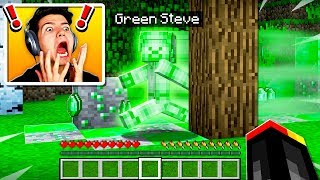I FOUND GREEN STEVE IN MINECRAFT POCKET EDITION!