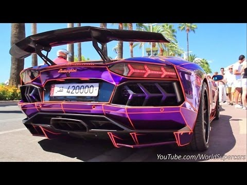 Decated Lamborghini Aventador Insanely Loud Start Up and Sound