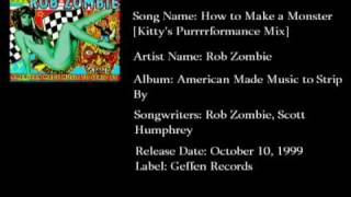 Watch Rob Zombie How To Make A Monster video