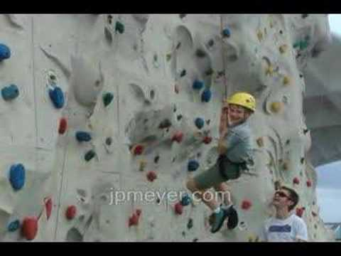 Good morning, rock climbing wall! on Royal Caribbean Cruise Lines Voyager of the Seas