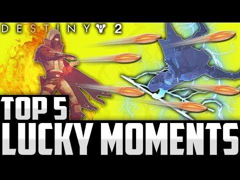 INSANE 6 SHOT GOLDEN GUN SHADESTEP DODGE! Top 5 Destiny 2 Beta Luckiest Moments / Episode 9