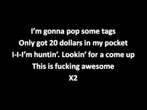 Macklemore- Thrift Shop- (ACCURATE LYRICS ON SCREEN)