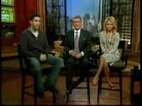 David Schwimmer talks in Regis and Kelly
