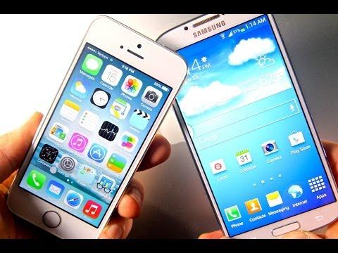 iPhone 5S VS Samsung Galaxy S4 - Speed. Camera & Hardware Comparison