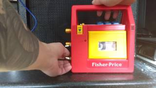 Circuit bent Fisher Price tape player by Shy Bairns Electronics