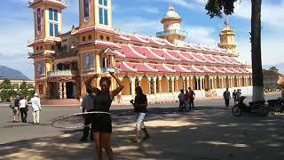 Hooping Cao Dai Temple near Ho Chi Minh