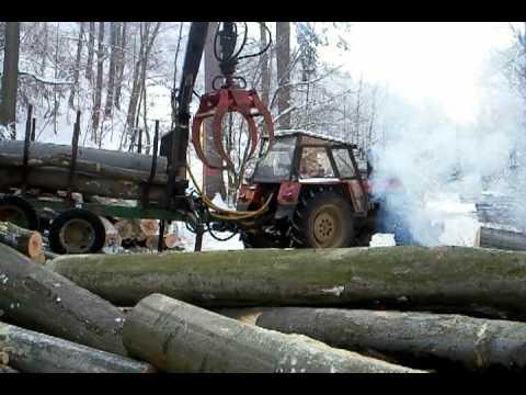 Zetor 10641 forterra + larix 3T, vyvážecí vlek, zrywka drewna