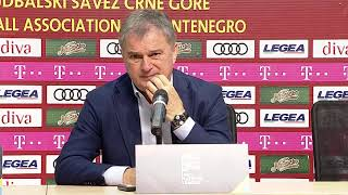 Konferencija Ljubiše Tumbakovića Nakon Meča Crna Gora - Srbija SPORT KLUB Fudbal