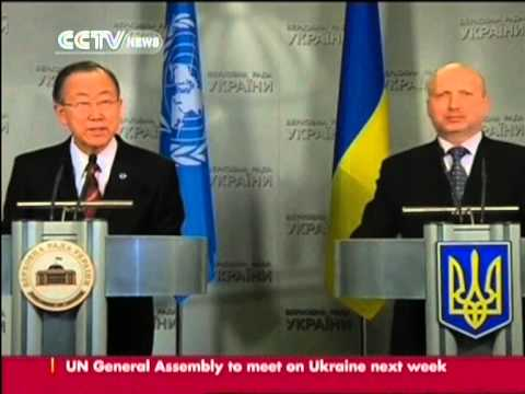 Ban Ki-moon calls for talks between Russia and Ukraine