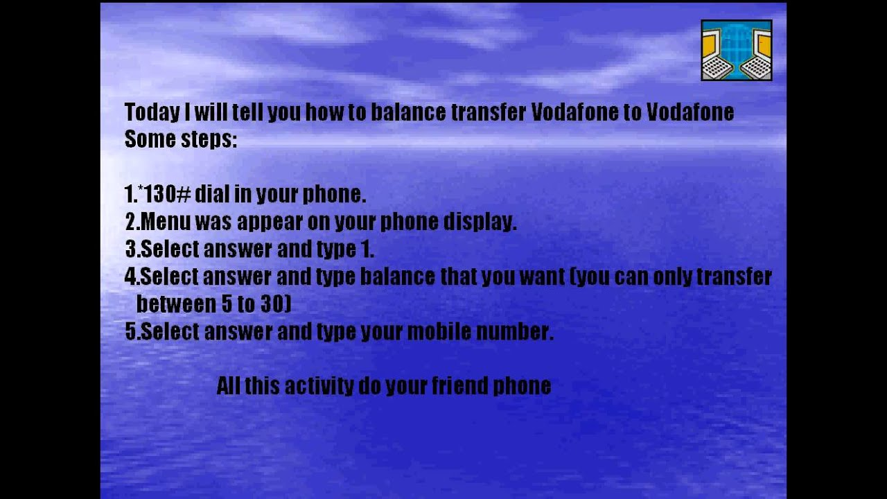 how to balance transfer vodafone to vodafone 100% working ...