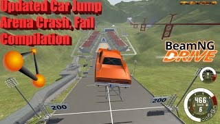 BeamNG Drive: New Updated Car Jump Arena Crash and Fail Compilation
