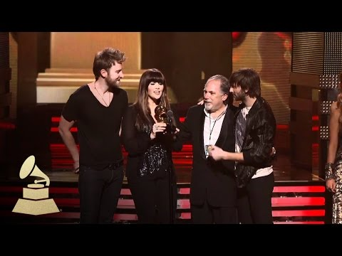 Lady Antebellum accepting the GRAMMY for Best Country Album at the 53rd GRAMMY Awards