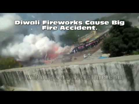OMG! Diwali Fireworks Cause Big Fire Accident.