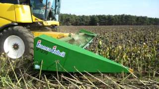 Sunflower header Zuern Solero, with New Holland CR
