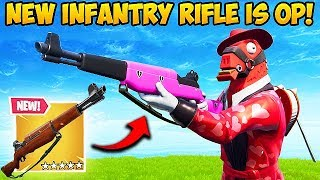 *NEW* INFANTRY RIFLE IS INSANE! - Fortnite Funny Fails and WTF Moments! #470