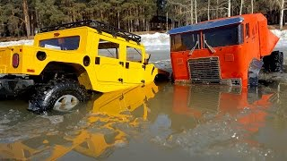 RC Truck OFF Road Ice Water — The Beast 6x6 and Hummer H1 — RC Extreme Pictures