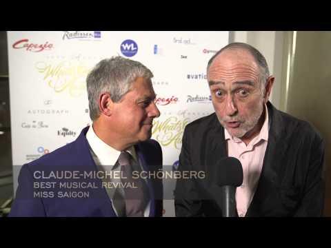 Cameron Mackintosh & Claude-Michel Schönberg - Miss Saigon - WhatsOnStage Awards 2015